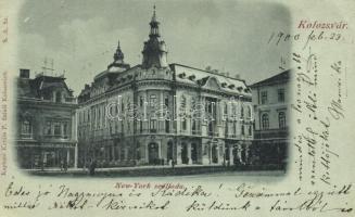 Kolozsvár, Cluj; New York szálloda, Csiky Mihály üzlete, cipész, Kováts P. fiai kiadása / hotel, shops, shoemaker (EK)