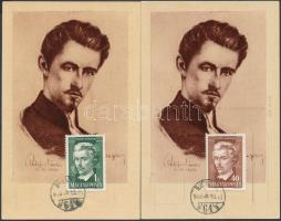 1949 Petőfi Sándor 40f és 1Ft 2 db CM-en