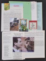 1983-1997 Szeleczky Zita színművésznővel kapcsolatos anyagok Az amerikában megjelentetett Szeleczky Zita Baráti Kör körlevelei, melyben a színésznő számol be hogylétéről és aktuális kérdésekről. Az összes körlevél + fotók a színésznő sírjáról