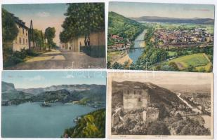 28 db RÉGI szlovén városképes lap, vegyes minőség / 28 pre-1945 SLOVENIAN town-view postcards, mixed quality