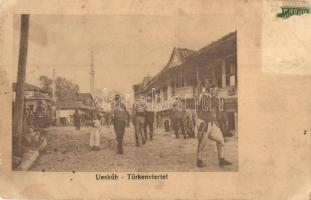 Skopje, Üsküb; Türkenviertel / Turkish quarter (surface damage)