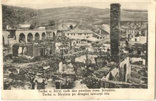 Turka, Turka nad Stryjem; after the second Russian occupation, destroyed city (cut)