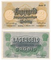Ausztria / Grödig / hadifogolytábor DN 20h + 1915. 2K T:I Austria / Grödig / POW Camp ND 20 Heller + 1915. 2K C:UNC