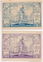 Ausztria / Pram 1920. 30h kék + 1920. 30h lila T:I-,II Austria / Pram 1920. 30 Heller blue + 1920. 30 Heller purple C:AU,XF