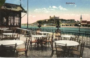 Pozsony, Pressburg, Bratislava; étterem terasza / restaurant terrace