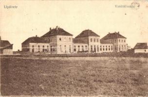 Lipótvár, Leopoldov; vasútállomás / railway station (EK)