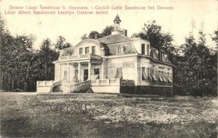 Sandrovac, Lázár Albert kastélya Daruvár mellett, Josip Epstein kiadása / castle near Daruvar (fa)