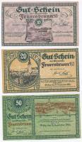 Ausztria / Feuerbrunn 1920. 10h + 20h + 50h T:I,II Austria / Feuerbrunn 1920. 10 Heller + 20 Heller + 50 Heller C:UNC,XF