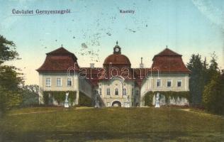 Gernyeszeg, Gornesti; Teleki kastély, Lang Henrik kiadása / castle (ragasztónyomok / glue marks)