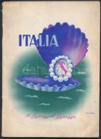 1939 Itália, a gyöngyök gyöngye, képekkel illusztrált füzet, sok képpel, közte színesekkel is, 52p