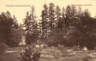 Rimaszombat, Rimavska Sobota; Széchenyi-kert, parkrészlet, W. L. 590. / garden, park