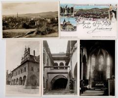 Lőcse, Levoca; 5 db régi képeslap köztük egy 1897-es litho lap, vegyes minőség / 5 pre-1945 postcards with one 1897 litho, mixed quality