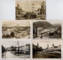 Besztercebánya, Banska Bystrica; - 5 db főleg régi képeslap / 5 mostly pre-1945 postcards