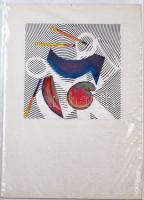 Jelzés nélkül: Absztrakt, kollázs, papír, 14.5x14.5 cm
