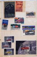 11 db levélzáró többségében autókat ábrázolók, valamint 2 vasúttal kapcsolatos.
