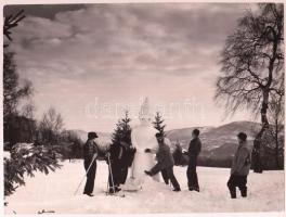 cca 1960 Kékes, Galyatető, 4 db fotó. 24x16 cm