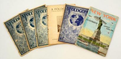 cca 1931 A Földgömb c. újság 5 száma + a New York újság egy megviselt száma