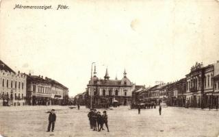 Máramarossziget, Sighetu Marmatiei; Fő tér / main square (EM)