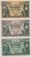 Ausztria / Wiener Neudorf 1920. 10h + 20h + 50h T:I egyiken kis szamárfül Austria / Wiener Neudorf 1920. 10 Heller + 20 Heller + 50 Heller C:UNC one with small corner fold