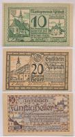 Ausztria / Aschbach 1920. 10h + 20h + 50h T:I,I- Austria / Aschbach 1920. 10 Heller + 20 Heller + 50 Heller C:UNC,AU