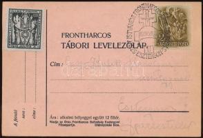 3 db Frontharcos tábori képes levelezőlap emlékbélyegzővel