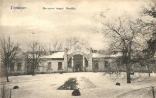 Demecser, Borzsova tanya, kastély; Malachovsky fényképész kiadása (EK)
