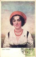 Czech folklore, TCV card s: Josef Zenisek (EK)