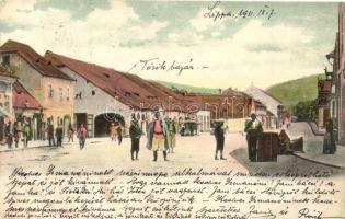 Lippa, Lipova; utca, török bazár, Zoitler Lajos kiadása / street, turkish bazaar (EB)