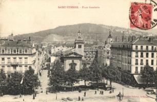 Saint Etienne, Place Gambetta / square, TCV card (EK)