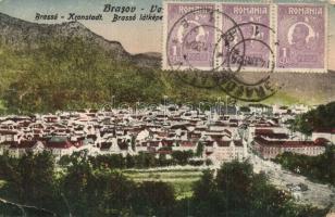 Brassó, Kronstadt, Brasov; látkép, K. J. Bp. / general view (Rb)