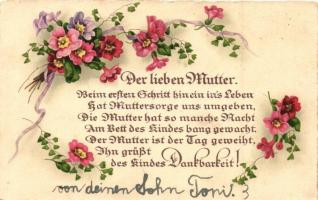 11 db RÉGI anyák napi üdvözlőlapok,vegyes minőség / 11 pre-1945 Mothers Day greeting cards, mixed quality