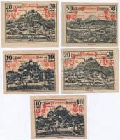 Ausztria / Salzburg 1920. 10h (2x) + 20h (2x) + 50h T:I--III Austria / Salzburg 1920. 10 Heller (2x) + 20 Heller (2x) + 50 Heller C:AU-F
