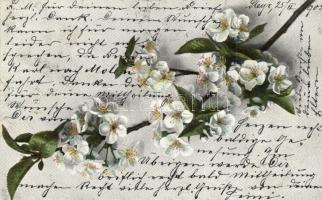 12 db RÉGI virágos üdvözlőlap, vegyes minőség / 12 pre-1945 floral greeting cards, mixed quality