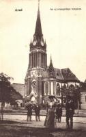 Arad, az új evangélikus templom, Kerpel Izsó kiadása / church (EK)