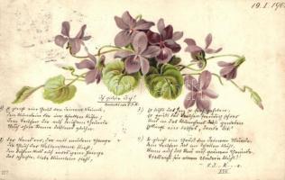 11 db RÉGI hosszú címzéses virágos üdvözlőlap, vegyes minőség / 11 pre-1901 floral greeting cards, mixed quality
