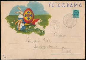 1940 Román telegram NAGYVÁRAD VISSZATÉRT bélyegzéssel