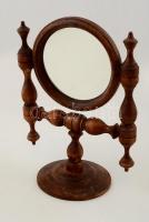 Asztali fa tükör, állítható, m:26 cm