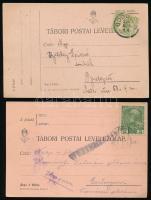 1915-1916 2 db Tábori posta levelezőlap bélyegekkel katonáktól feladva