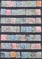 A4-es 10 fekete lapos berakó, benne 6,5 oldalon Krajcáros bélyegek (gyenge minőség)