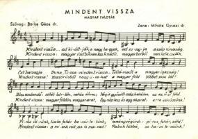 Mindent vissza! Magyar Palotás / Hungarian Irredenta, 1938 Kassa visszatért So. Stpl (EK)