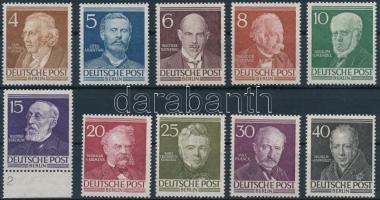 1952 Híres emberek sor Mi 91-100 (Mi EUR 130,-)