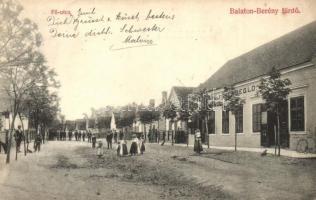 Balatonberény, Fő utca, Páli vendéglő. kiadja Tóth Márton (EK)
