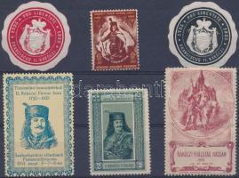 1900-1934 6 db Rákóczi levélzáró
