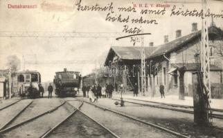 Dunaharaszti, (Budapest Helyiérdekű Vasút) BHÉV állomás, vonat, kiadja Kulikov J. Nándor