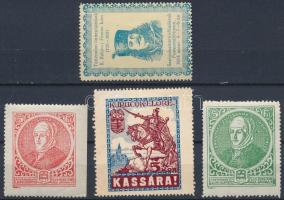 1930 4 db levélzáró