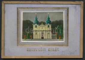 cca 1940 Szentkúti emlék Krónits Miklós ofszet képével, 4×6 cm