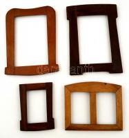 4 db régi fotóképkeret, különféle méretben, 10×7-16×12 cm