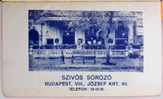 1941-1943 2 db naptár, Világítási naptár 1943. évre, 1941 Zsebnaptár benne Szívós Söröző (Budapest) és Dreher Bak sör reklámmal, változó állapotban, ceruzás kitöltéssel, firkával.