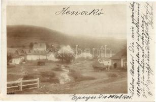 1905 Henckó, Henckovce; falu részlet / view, photo (EK)