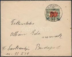 1915 Helyi levél 20f/100f Kisegítő portóbélyeggel